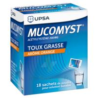 MUCOMYST 200 mg Poudre pour solution buvable en sachet B/18 à ESSEY LES NANCY