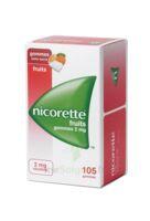 Nicorette 2 mg Gomme à mâcher médicamenteuse sans sucre fruits Plq/105 à ESSEY LES NANCY