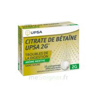 Citrate de Bétaïne UPSA 2 g Comprimés effervescents sans sucre menthe édulcoré à la saccharine sodique T/20 à ESSEY LES NANCY