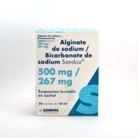 ALGINATE DE SODIUM/BICARBONATE DE SODIUM SANDOZ 500 mg/267 mg, suspension buvable en sachet à ESSEY LES NANCY