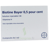BIOTINE BAYER 0,5 POUR CENT, solution injectable I.M. à ESSEY LES NANCY