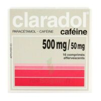 CLARADOL CAFEINE 500 mg/50 mg, comprimé effervescent à ESSEY LES NANCY