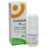 CROMABAK 20 mg/ml, collyre en solution à ESSEY LES NANCY