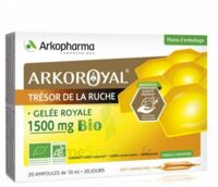 Arkoroyal Gelée royale bio 1500 mg Solution buvable 20 Ampoules/10ml à ESSEY LES NANCY
